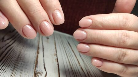 Beautiful Female Hands. Beautiful hand with perfect nail 2019 Stok Fotoğraf - 134587925