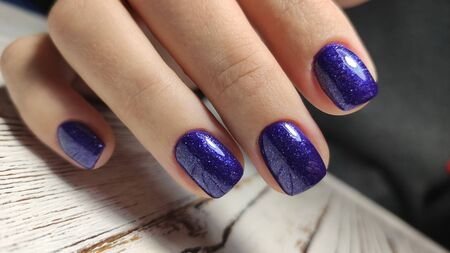 Beautiful Female Hands. Beautiful hand with perfect nail 2019 Stok Fotoğraf - 134587927