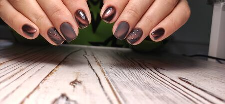 Beautiful Female Hands. Beautiful hand with perfect nail 2019 Stok Fotoğraf - 134587941