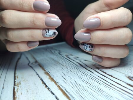 The beauty of the natural nails. Perfect