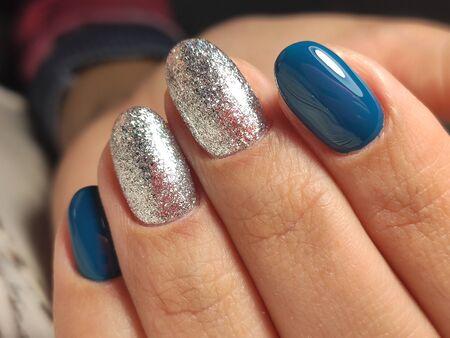 Youth manicure design, beautiful female hands Stok Fotoğraf - 134587690