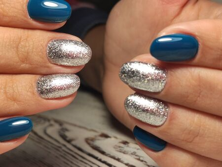 The beauty of the natural nails. Perfect Stok Fotoğraf - 134587691
