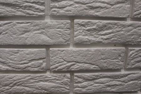 Modern white brick wall texture background for wallpaper and graphic web design. Reklamní fotografie - 134982520