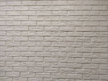 Modern white brick wall texture background for wallpaper and graphic web design. Reklamní fotografie - 134983491