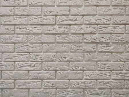 Modern white brick wall texture background for wallpaper and graphic web design. Reklamní fotografie - 134983470