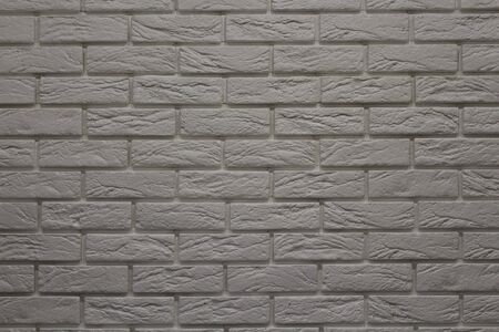 Modern white brick wall texture background for wallpaper and graphic web design. Reklamní fotografie - 134983527
