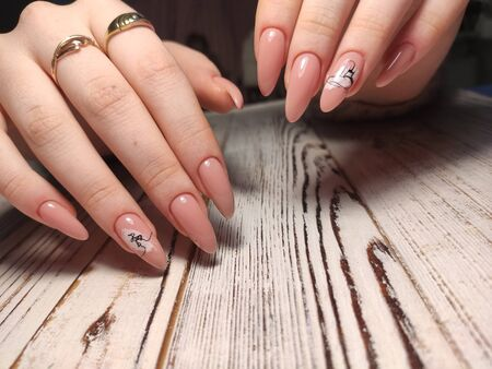 The beauty of the natural nails. Perfect clean manicure