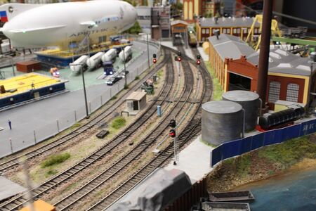 Toy city in a small size, very beautiful and realistic