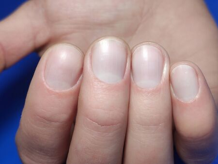 Manicure on male hands, man's hands