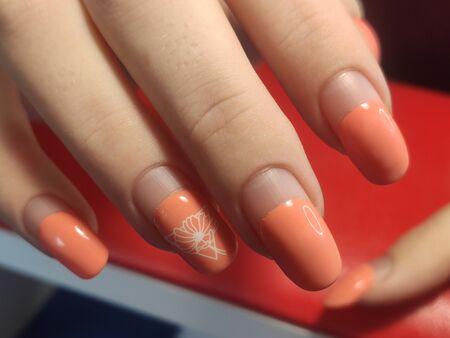 Manicure before correction. Manicure during quarantine. Urgently needed manicure correction.