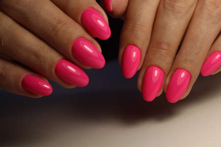beautiful manicure of nails on the background of a fashionable