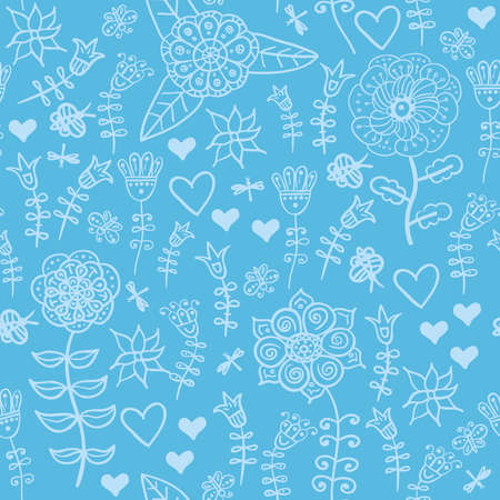 Seamless floral pattern Stock Vector - 18463256