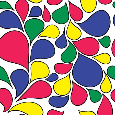 Colorful abstract retro pattern made from various spatters