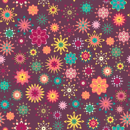 summer floral garden seamless pattern Vector