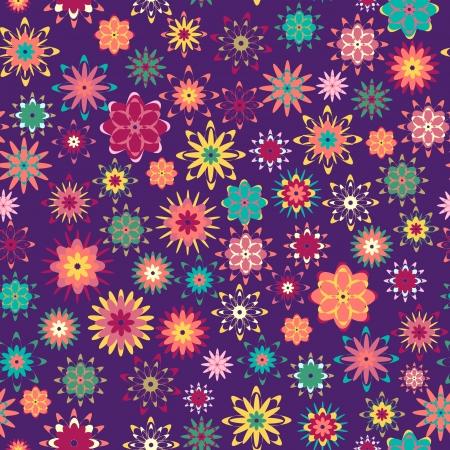 summer floral garden seamless pattern Vector