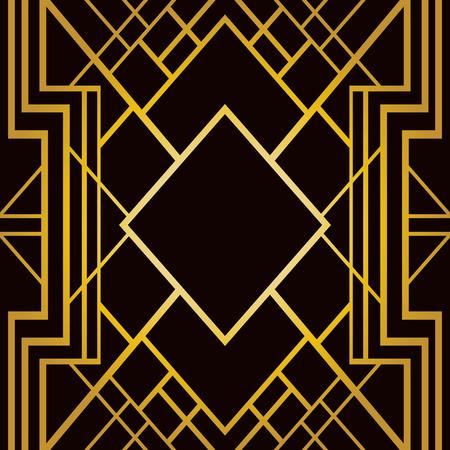Dekoration: Abstrakte geometrische Rahmen in Art Deco-Stil Illustration