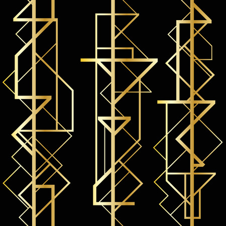 art deco background: Abstract geometric pattern Illustration