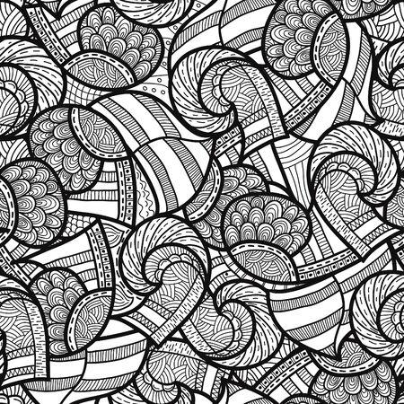 vikingo: Modelo étnico inconsútil, ilustración vectorial