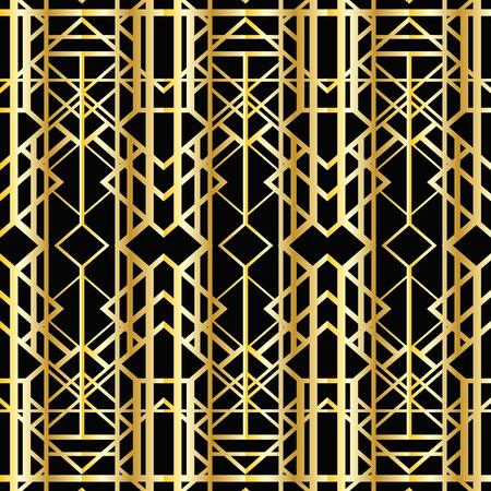 twenties: Abstract geometric pattern in art deco style