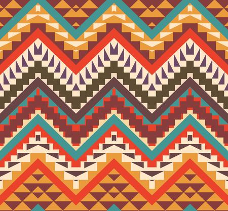 indische muster: Nahtlose bunte ethnische Muster, Vektor-Illustration Illustration