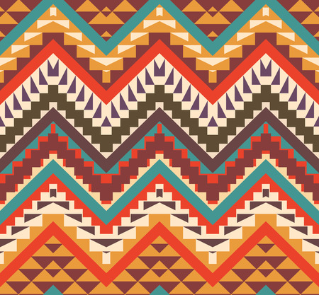 color pattern: Seamless colorful ethnic pattern, vector illustration