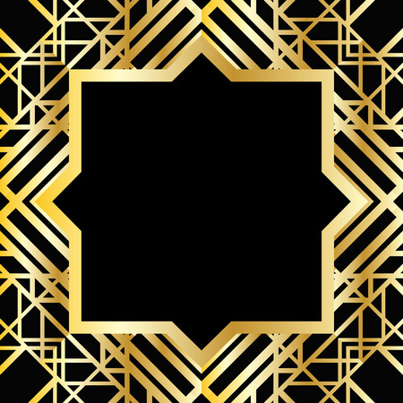 great: Abstract geometric frame in art deco style