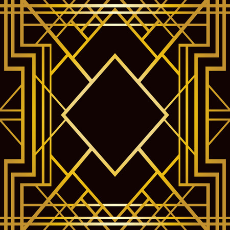 abstract art: Abstract geometric pattern in art deco style