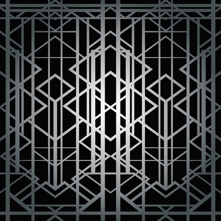 art deco background: Abstract geometric pattern in art deco style