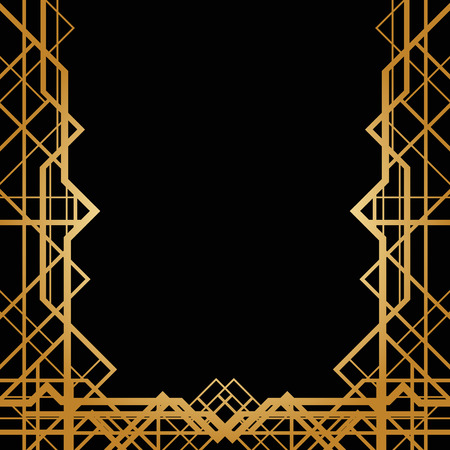 art border: Abstract frame in art deco style Illustration