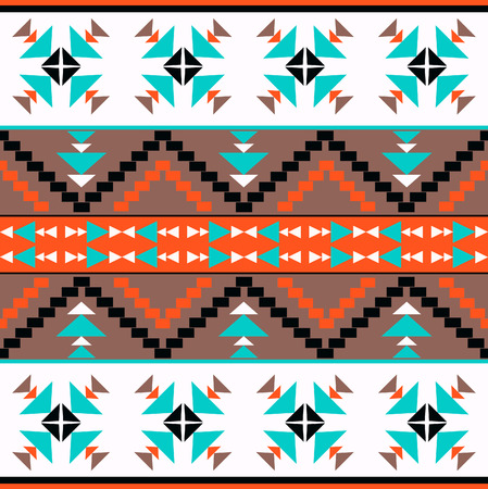 american native: Seamless colorful ethnic pattern, vector illustration