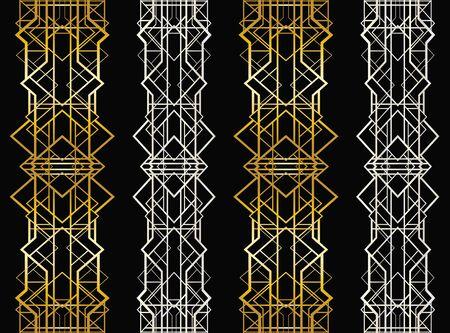 Abstrakte geometrische Muster im Art Deco Stil