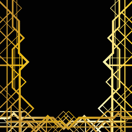 30s: Abstract geometric frame in art deco style