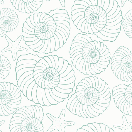 oceanside: Seamless sea pattern, vector illustration