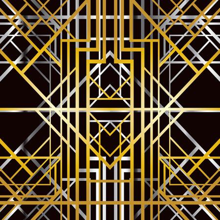 zig: Abstract geometric pattern in art deco style