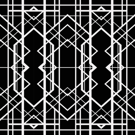 art deco: Abstract geometric pattern in art deco style