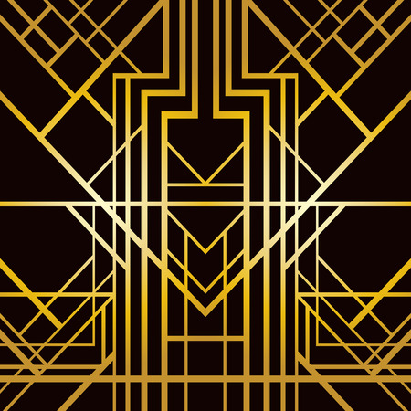 vintage art: Abstract geometric pattern in art deco style