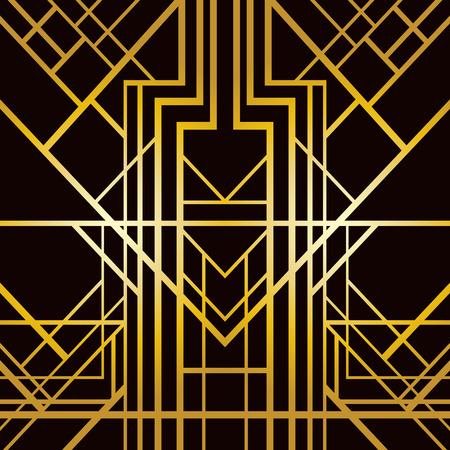 arte moderno: Modelo geométrico abstracto en estilo art deco