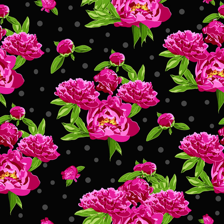 Seamless colorful floral pattern, vector illustration
