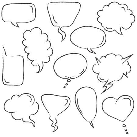 cartooning: Set of speech bubbles