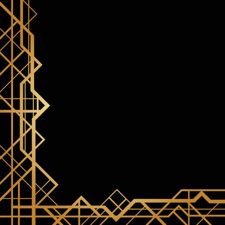 line art: Marco abstracto en estilo art deco
