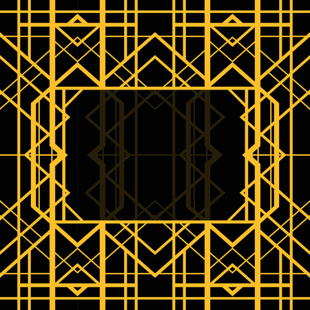 art deco border: Abstract geometric frame in art deco style