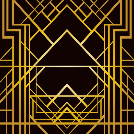 intersecting: Abstract geometric pattern in art deco style