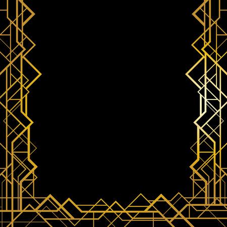 slanted: Marco geom�trico en estilo art deco Vectores