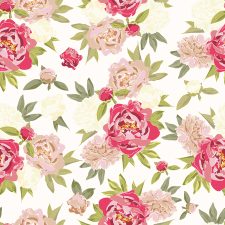 seamless floral: Seamless floral pattern, vector illustration Illustration
