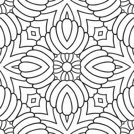floral seamless pattern: Abstract geometric pattern Illustration
