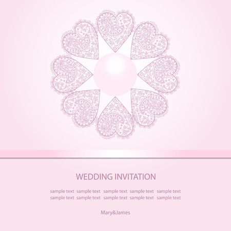 perls: Wedding invitation card