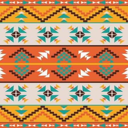 indios americanos: Patrón étnico colorido inconsútil, ilustración vectorial