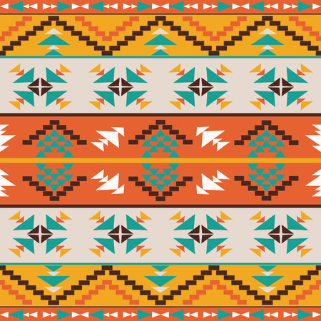 yellow art: Seamless colorful ethnic pattern, vector illustration