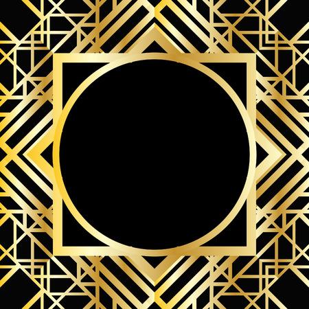 art deco frame: Art deco frame Illustration
