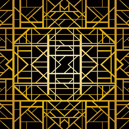 アールデコ様式の抽象的な幾何学模様